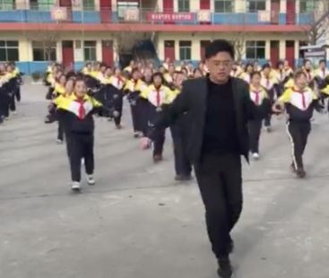Chinese school principal introduces new dance regime to break the monotony