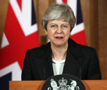 heresa May says she will resign after the British Parliament approves its agreement for the UK's exit from the EU