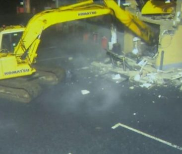 Northern Ireland: thieves used an excavator to take an ATM