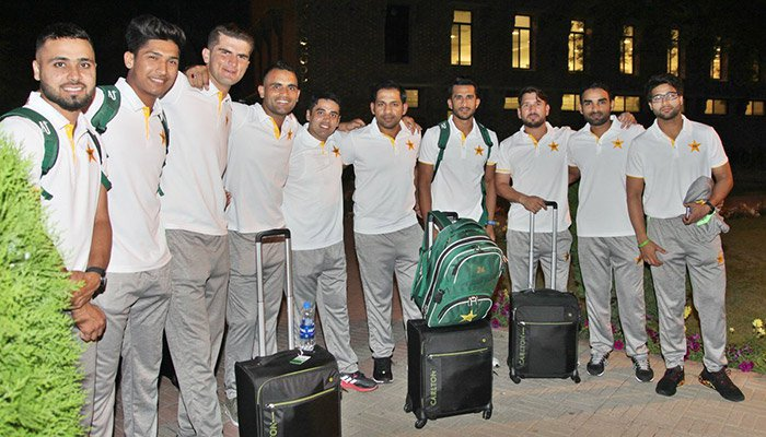 Pakistan cricket team departs for England