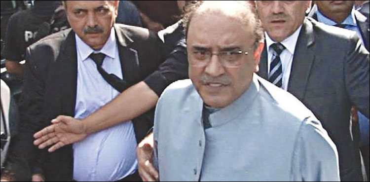 Fake accounts case against Zardari, others adjourned till April 29