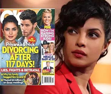 Priyanka and Nick to sue Ok! Magazine for 'divorce' rumors