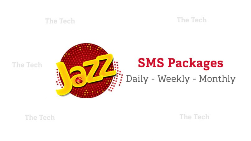 Mobilink Jazz SMS Packages (Daily, Weekly & Monthly) – Prepaid and Postpaid