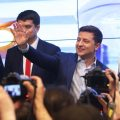 Ukrainian comedian Volodymyr Zelensky wins a landslide victory in the country's presidential election