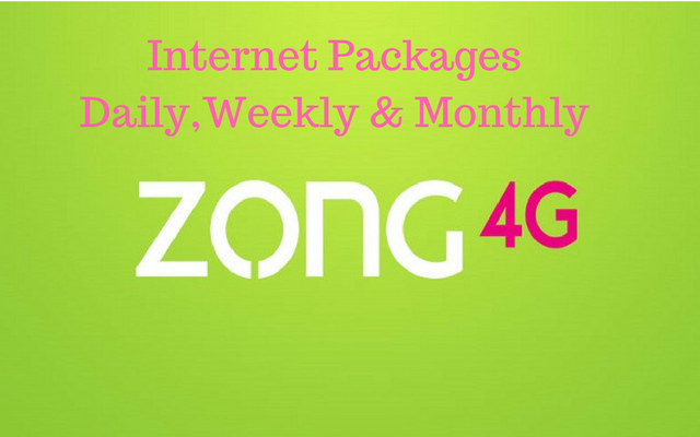 Zong Internet Packages 2019