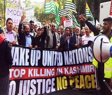 Kashmir's freedom movement: Thousands march to Indian High Commission in London
