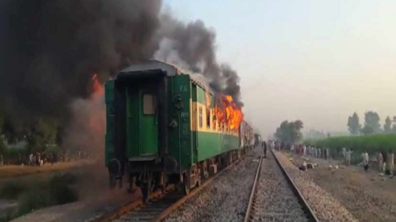 Gas canister explosion in Tezgam Express claims at least 62 lives in Rahim Yar Khan