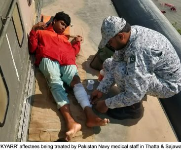 Pakistan Navy's Rescue Operation for the affectees of Sea Cyclone KYARR in Thatta and Sajawal