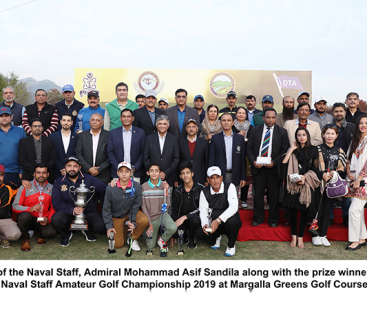 Ali Bangash Clinches title of 13th Cheif of the Naval Staff Amateur Golf Championship 2019