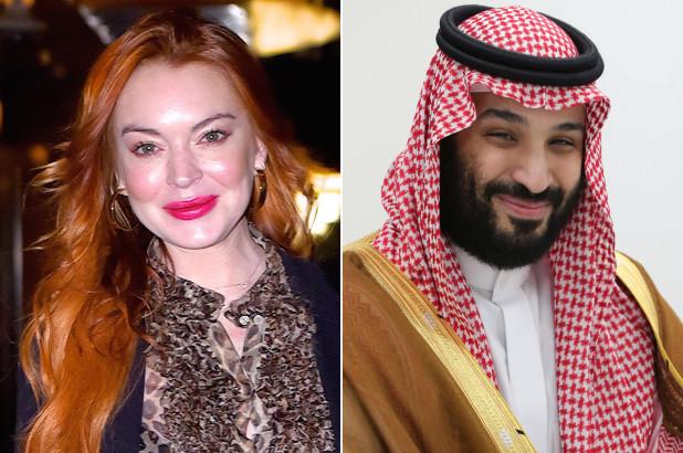 Lindsay Lohan and Saudi crown prince in 'platonic' relationship?