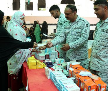 Pakistan Navy established Free Medical & Eye Camps at Bhutta and Mubarak villages