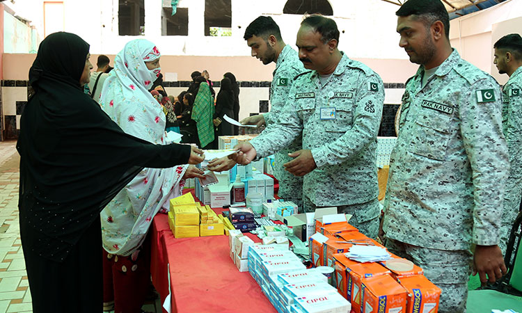 Pakistan Navy established Free Medical & Eye Camps at Bhutta and Mubarak villages