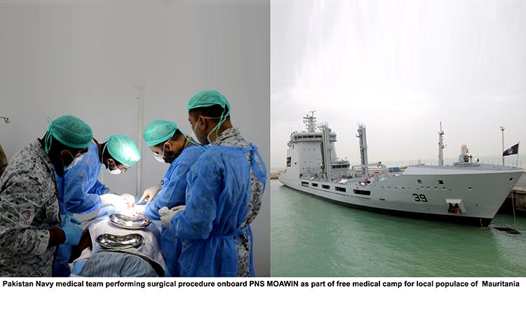 Pakistan Navy Ships Moawin & Aslat Visit Port Nouakchott, Mauritania