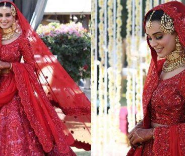 Twitter thinks Iqra Aziz's bridal dress was an exact copy of Priyanka Chopra's