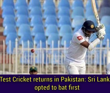 Test Cricket returns in Pakistan: Sri Lanka opted to bat first