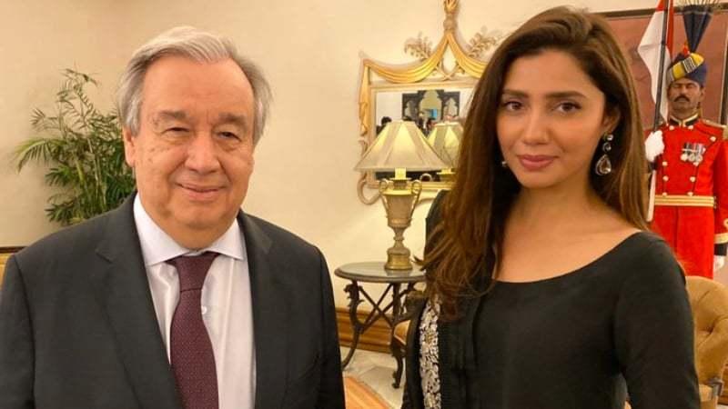 Mahira Khan calls on UN chief