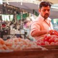 Demand for food items is on the rise as people throng markets