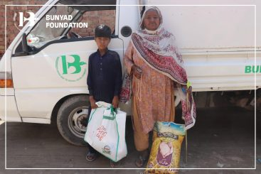 Bunyad Foundation distributes ration bags during COVID-19 pandemic