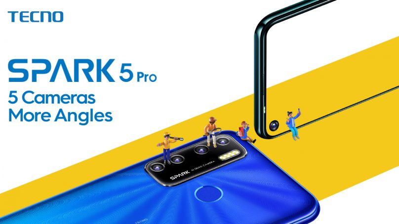 "TECNO Launched SPARK 5 Pro: 5 Cameras, 5000mAh Battery &6.6"" HD Display"