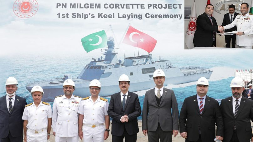 Keel Laying of 1stT Milgem Class Corvette for  Pakistan Navy held at Turkey