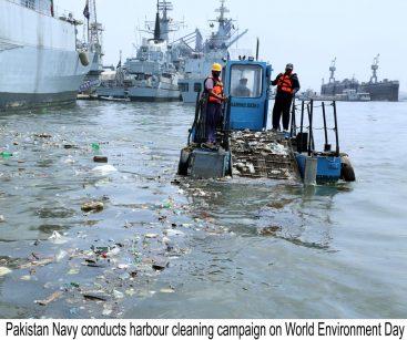 Pakistan Navy observes World Enviroment Day