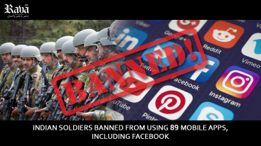 Indian soldiers banned from using 89 mobile apps, including Facebook