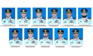 Promotions in Pakistan Air Force: 01 Air Vice Marshal as Air Marshal and 10 Air Commodores  as Air Vice Marshal