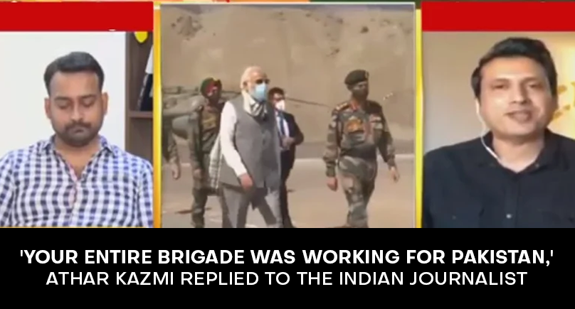 'Your entire brigade was working for Pakistan,' Athar Kazmi replied to the Indian journalist