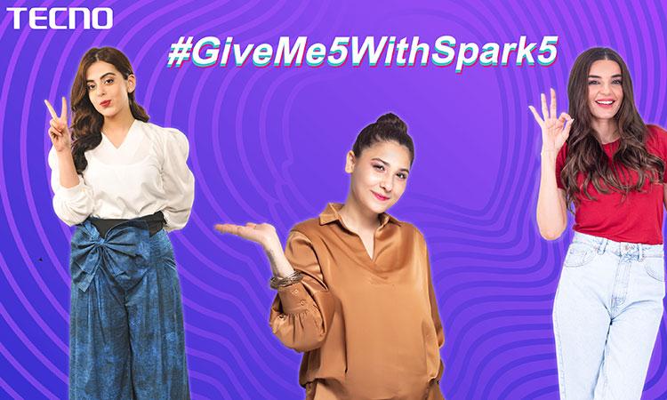 TECNO #GiveMe5WithSpark5 Breaks all Records on TikTok