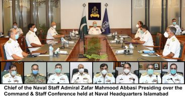 Naval Chief presides  Command & Staff conference at Naval Headquarters Islamabad