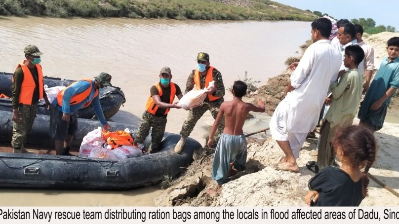 Pakistan Navy rescue and relief operation in Dadu Sindh
