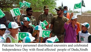 Pakistan Navy continues rescue & relief operations at Dadu