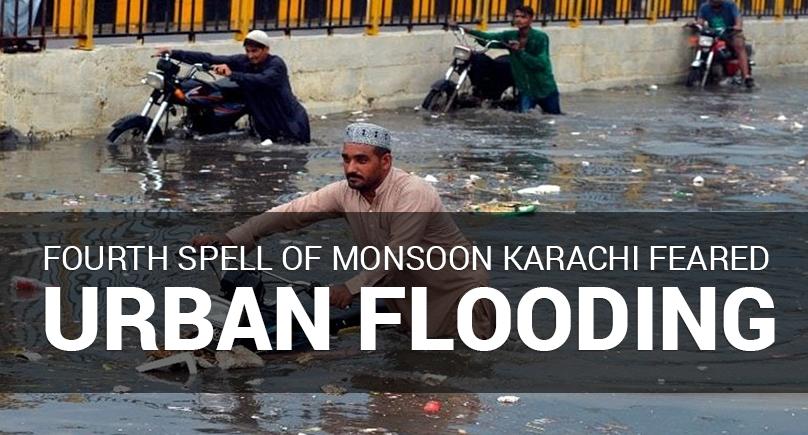 Fourth Monsoon Spell in Karachi Fears Urban Flooding