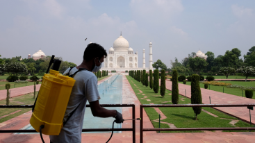 Taj Mahal reopened as coronavirus cases in India surged