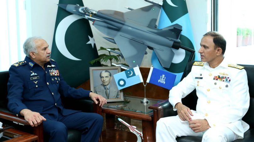 Newly Appointed Chief of Naval Staff  calls on Air Chief at  Air Headquarters