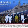 Keel laying of Milgem Class Corvette for Pakistan Navy held at Karachi