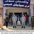 Pakistan Navy establishes free medical and eye camp at Mubarak Village