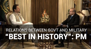 "Relations between govt and military ""best in history"": PM"