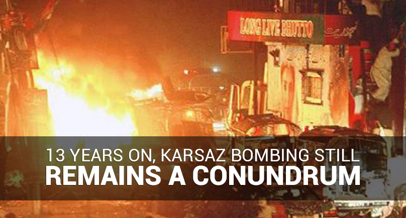 13 years on, Karsaz bombing still remains a conundrum