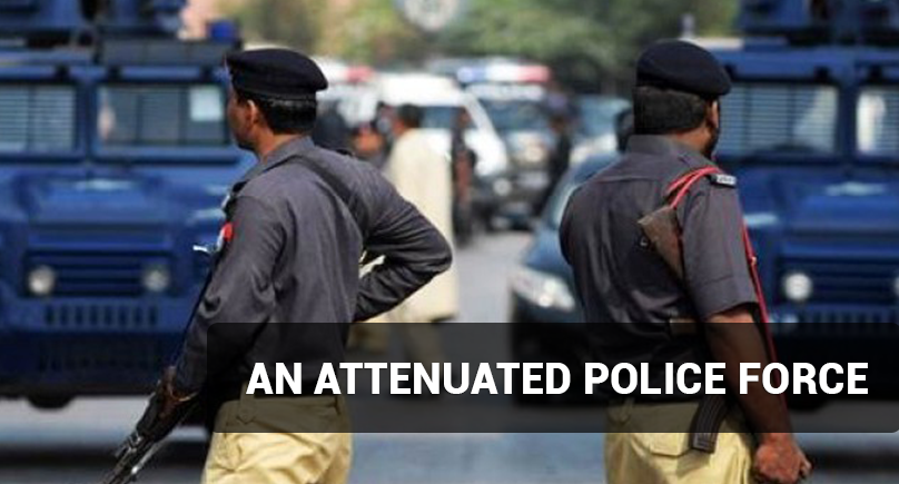 An attenuated police force