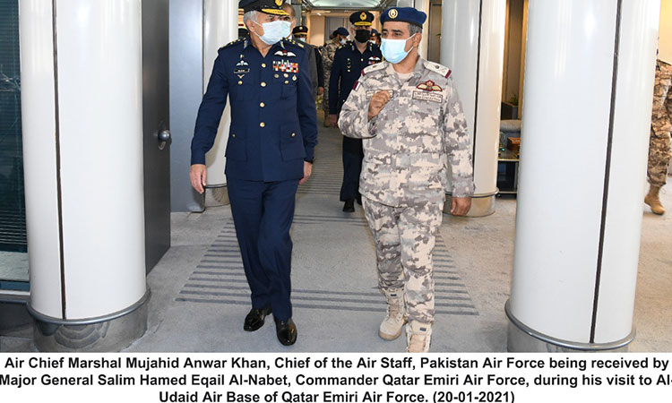 Air chief completes successful visit to Qatar