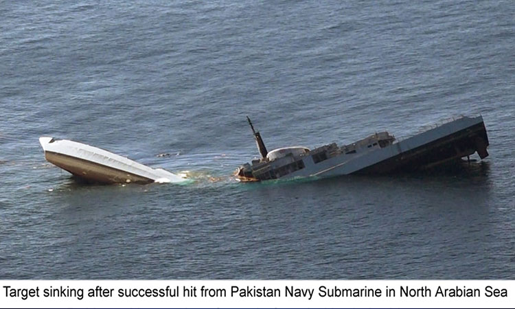 Pakistan Navy conducts successful live weapons firing in North Arabian Sea