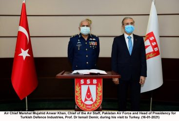 Chief of the Air Staff meets Head of the Presidency for Turkish Defence Industries