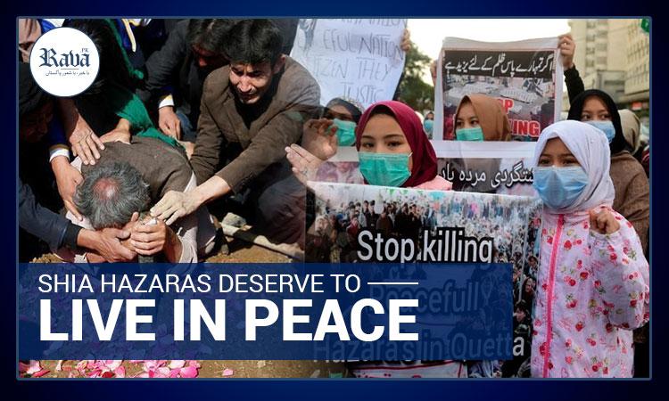 Shia Hazaras deserve to live in peace