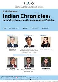 "CASS webinar on ""Indian Chronicles: India's Disinformation Campaign against Pakistan"