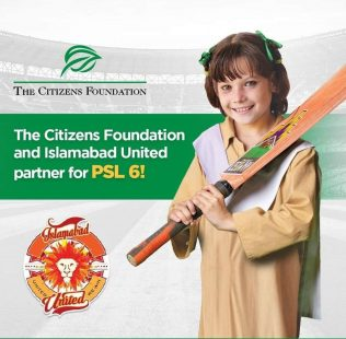 Islamabad United & The Citizens Foundation Partner for PSL6!