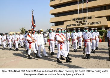 Naval Chief visits PMSA Headquarters Karachi today