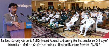 9th International Maritime Conference (IMC) 2021 in progress at Karachi