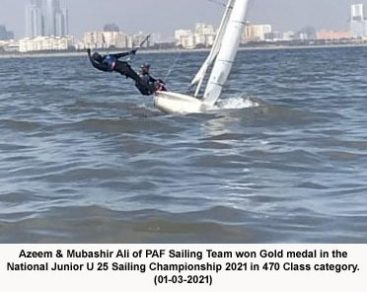 PAF sailing team wins National Junior U 25 Sailing Championship 2021