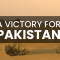 A victory for Pakistan